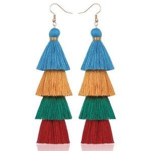 Jewelry - Layered tassel earrings